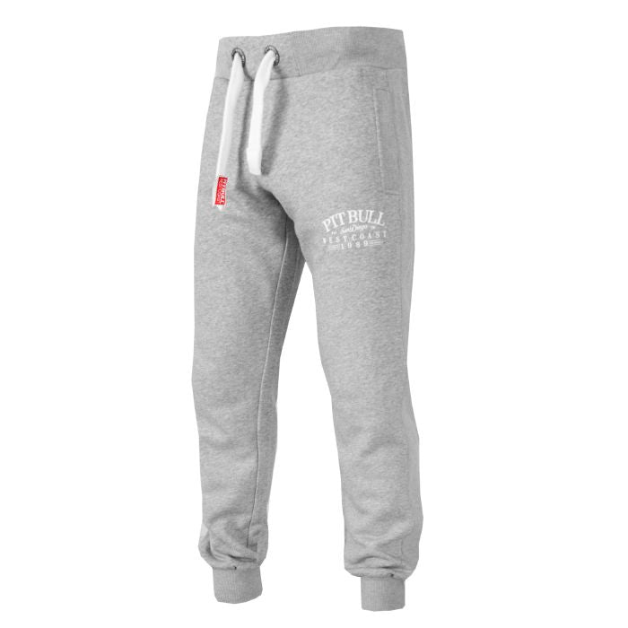 Jogging Trousers OLD SCHOOL Grey - pitbullwestcoast