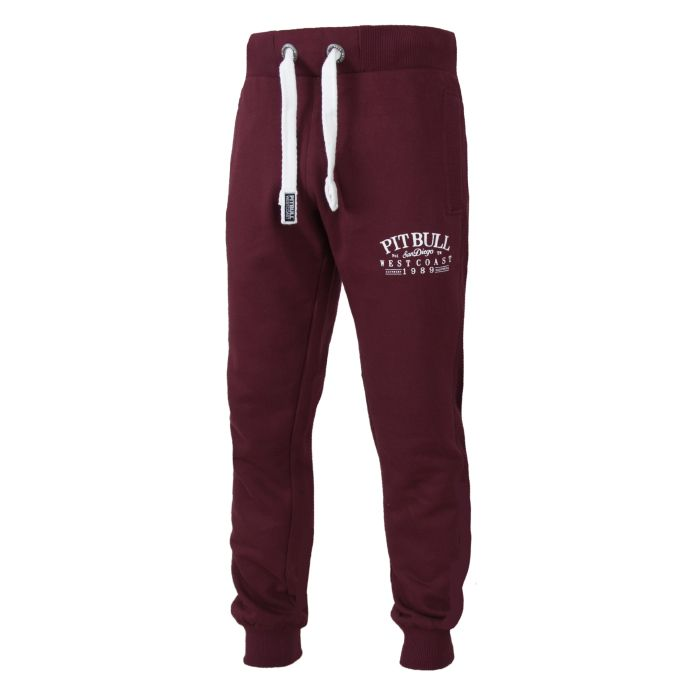 Jogging Trousers OLD SCHOOL Burgundy - pitbullwestcoast