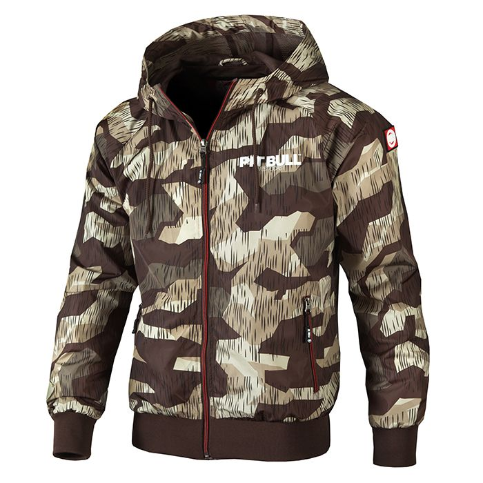 Hooded Jacket Athletic 7 Brown Camo - pitbullwestcoast