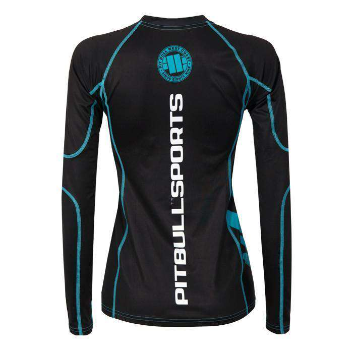 pitbull sports women rashguard ls zigzag blue