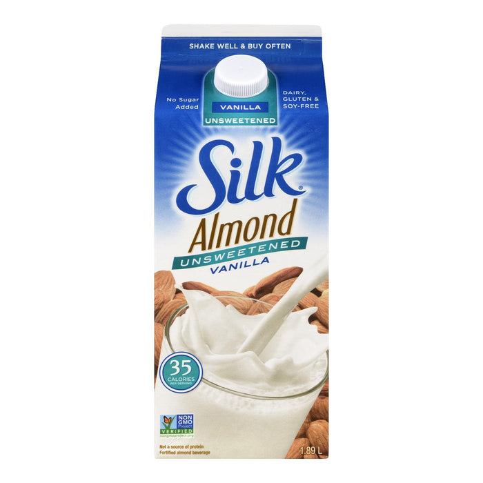 SILK BEVERAGE ALMOND VANILLA UNSWEETENED 1.89 L