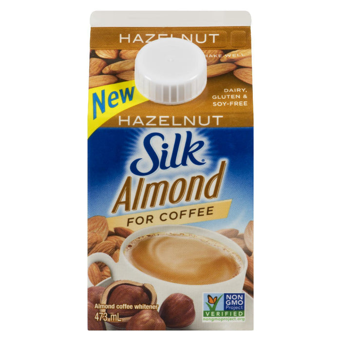 SILK COFFEE WHITENER ALMOND HAZELNUT 473 ML