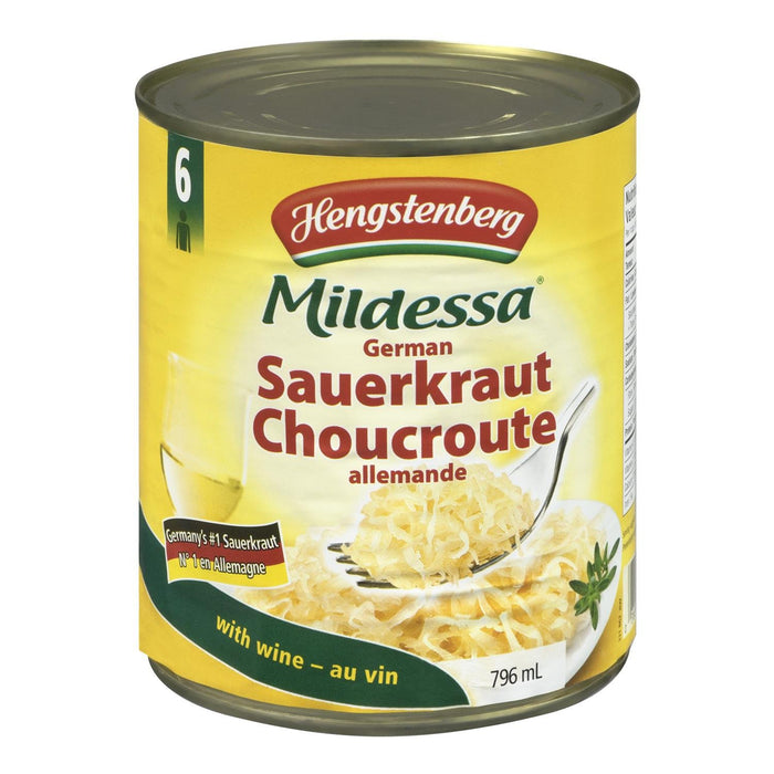 HENGSTENBERG MILDESSA SAUERKRAUT GERMAN WINE 796 ML
