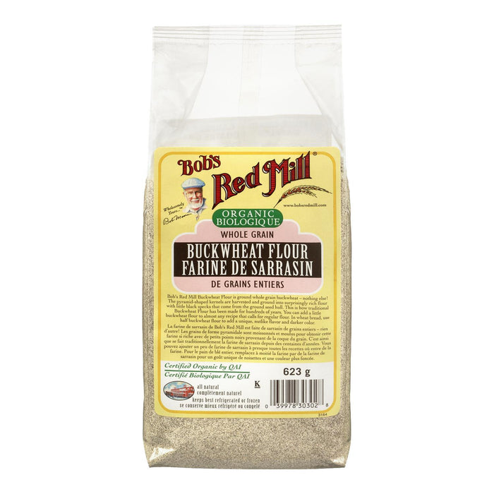 BOBS RED MILL FLOUR BUCKWHEAT WHOLE GRAIN ORGANIC 623 G