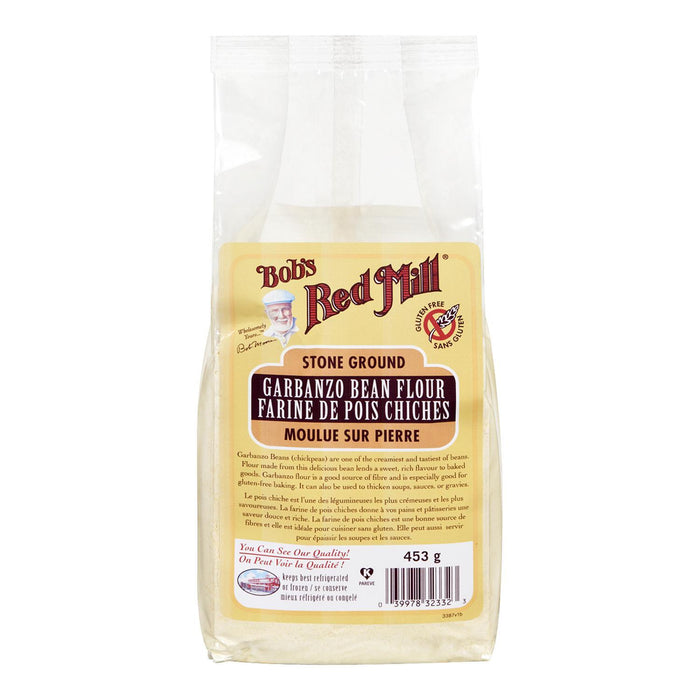 BOBS RED MILL FLOUR GROUND GARBANZO BEAN GLUTEN FREE 453 G