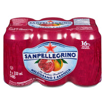 SAN PELLEGRINO BEVERAGE MELOGRANA E ARANCIA POMEGRANATE AND ORANGE 6 x 330 ML
