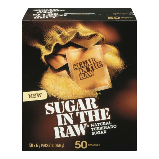 SUGAR IN THE RAW SUGAR PACKETS, 50 x 5G
