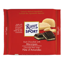 RITTER SPORT DARK CHOCOLATE WITH ALMOND PASTE 100G