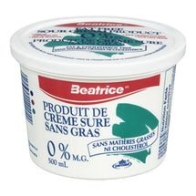 BEATRICE SOUR CREAM FAT FREE 500 ML