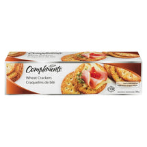 COMPLIMENTS WHOLE WHEAT CRACKERS 225G