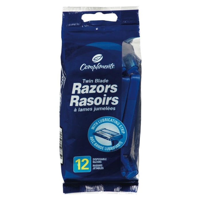 COMPLIMENTS RAZORS FOR MEN 12 UN