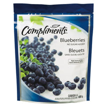 COMPLIMENTS BLUEBERRIES WHOLE NO SUGAR ADDED 600 G