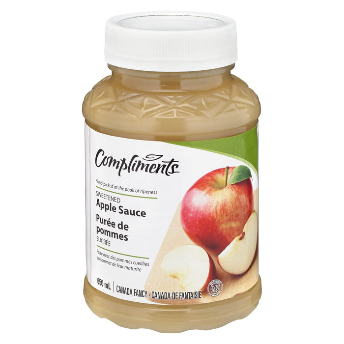 COMPLIMENTS APPLE SAUCE SWEETENED 650 ML