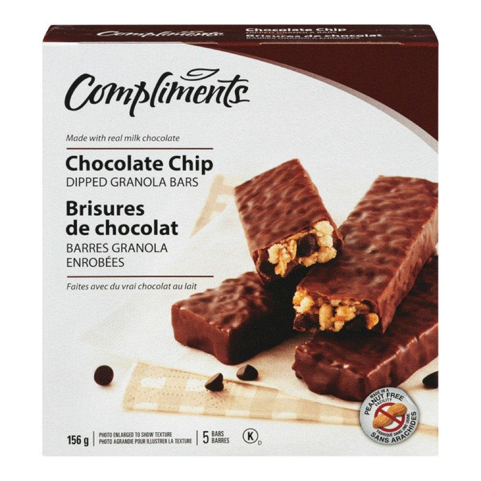 COMPLIMENTS GRANOLA BAR CHOCOLATE CHIPS 156 G