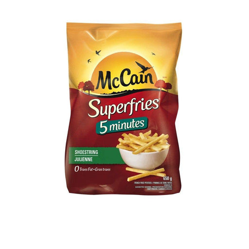 MCCAIN FRITES 5 MINUTES JULIENNE 650 G