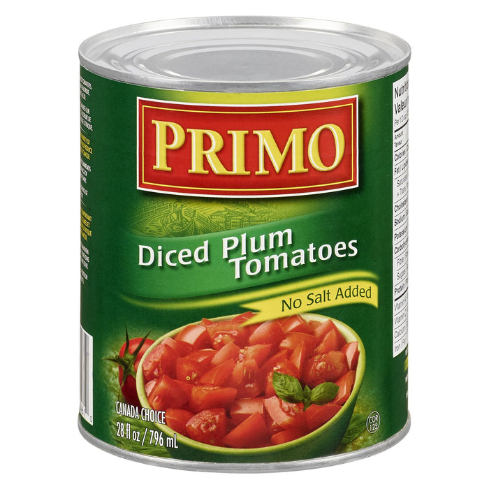 PRIMO DICED TOMATOES NO SALT ADDED 796 ML