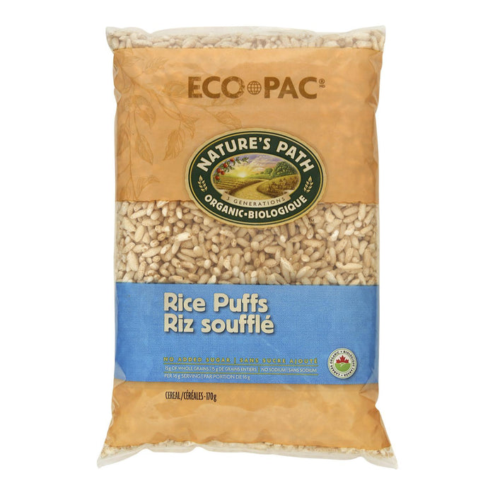 NATURES PATH ECO PAC CEREAL RICE PUFFS ORGANIC 170 G