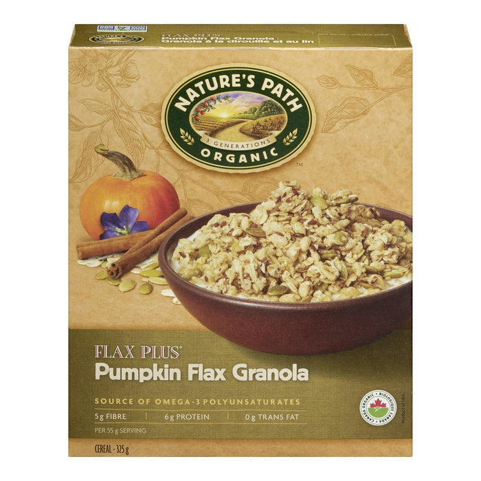 NATURES PATH FLAX PLUS CEREAL PUMPKIN FLAX GRANOLA ORGANIC 325 G