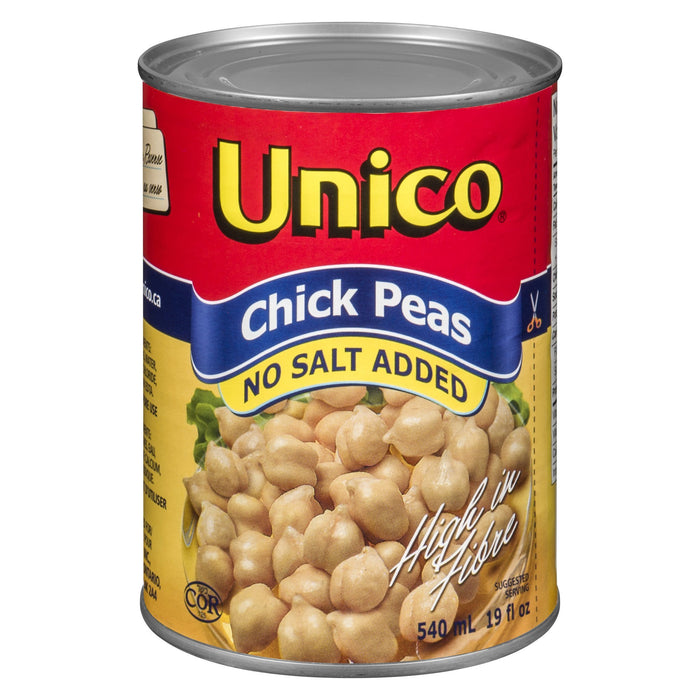 UNICO CHICKPEAS NO SALT 540 ML