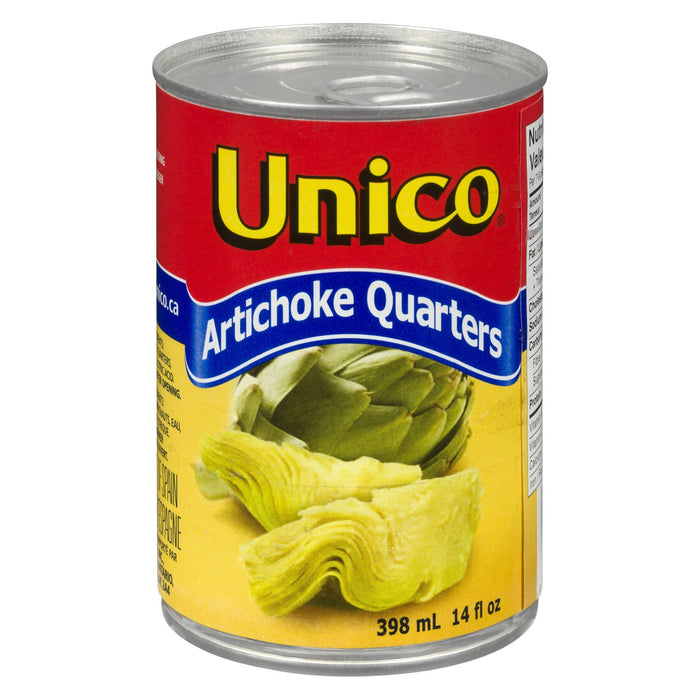 UNICO QUARTERS OF ARTICHOKES 398 ML