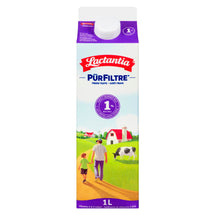 LACTANTIA PUR FILTRE MILK 1% PARTLY SKIMMED 1 L