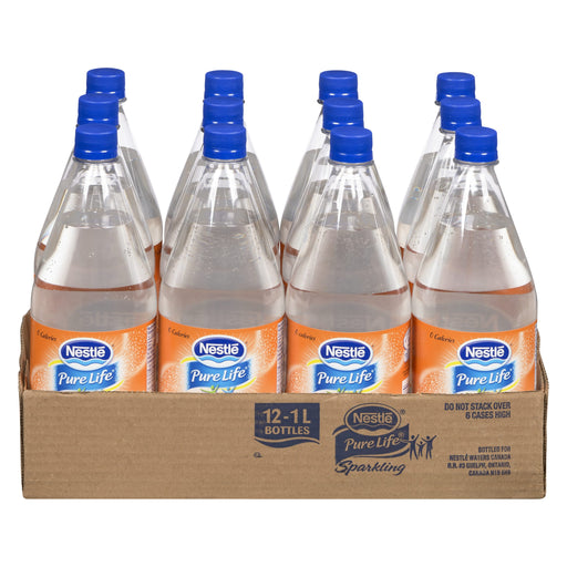 NESTLE PURE LIFE SPRING WATER SPARKLING ORANGE MANDARIN 12 X 1L