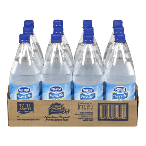 NESTLE PURE LIFE SPRING WATER SPARKLING ORIGINAL 12 X 1L