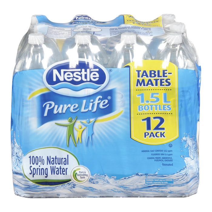 7be06aed79 NESTLE PURE LIFE NATURAL SPRING WATER 12 X 1.5 L — Delivurr