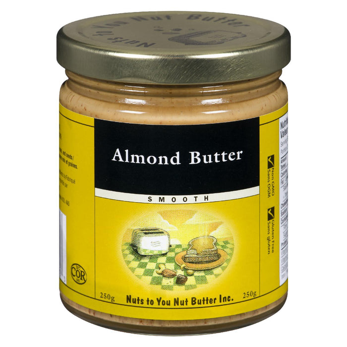 NUTS TO YOU NUT BUTTER ALMOND BUTTER SMOOTH 250 G