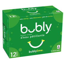 BUBLY LIME SPARKLING WATER, 12 x 355 ML