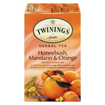 TWINNINGS HONEYBUSH MANDARIN ORANGE TEA BAGS 20 UN