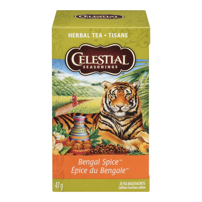 CELESTIAL SEASONINGS HERBAL TEA BENGAL SPICE 20S 47 G