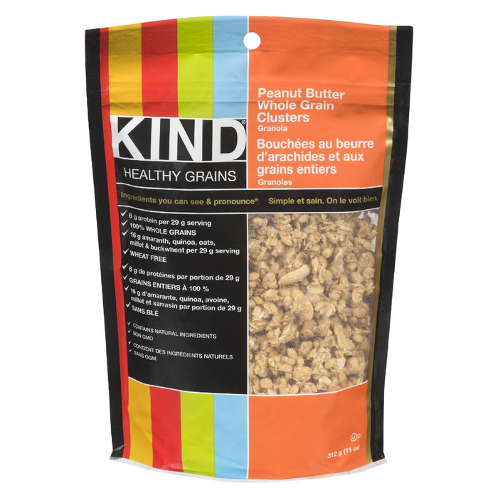 KIND GRANOLA PEANUT BUTTER WHOLE GRAIN 312 G