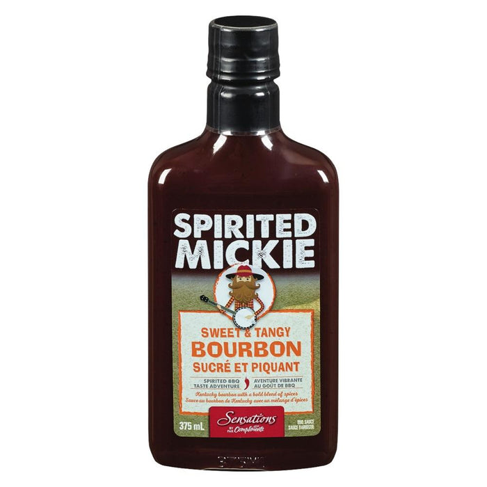 SENSATIONS BBQ SAUCE BOURBON 375ML