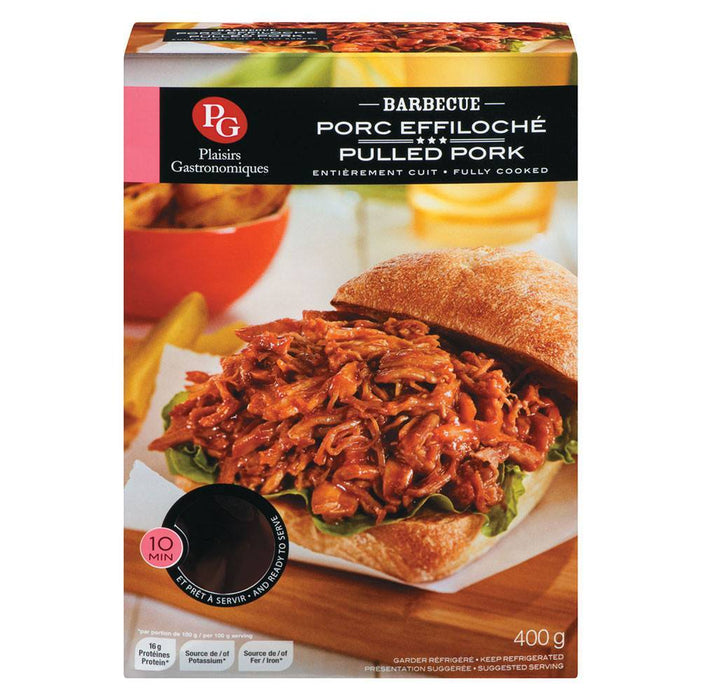 PLAISIRS GARTRONOMIQUE BARBECUE PULLED PORK 400 G