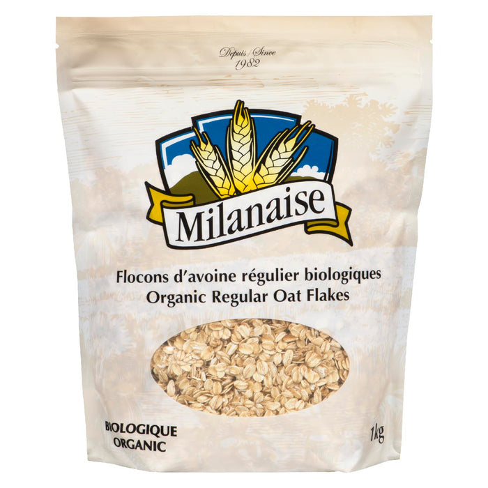 MILANAISE OAT FLAKES ORGANIC 1KG