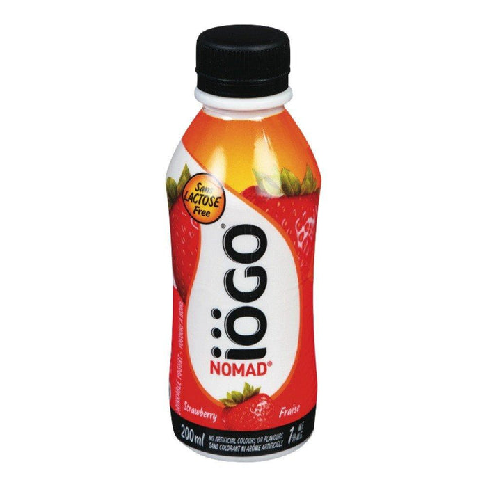 IOGO NOMAD DRINKABLE YOGURT 1%MF STRAWBERRY 200 ML