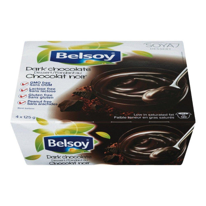 BELSOY DESSERT DARK CHOCOLATE 4 x 125 G