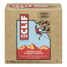 CLIF BAR ENERGY BAR CHOCOLATE ALMOND FUDGE 6 x 68 G