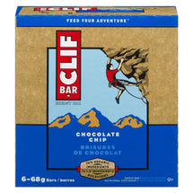 CLIF BAR ENERGY BAR CHOCOLATE CHIP 6 x 68 G