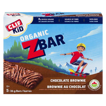 CLIF KID ORGANIC ZBAR BARS CHOCOLATE BROWNIE 5 x 36 G