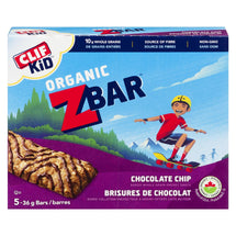 CLIF KID ORGANIC ZBAR BARS CHOCOLATE CHIP 5 x 36 G