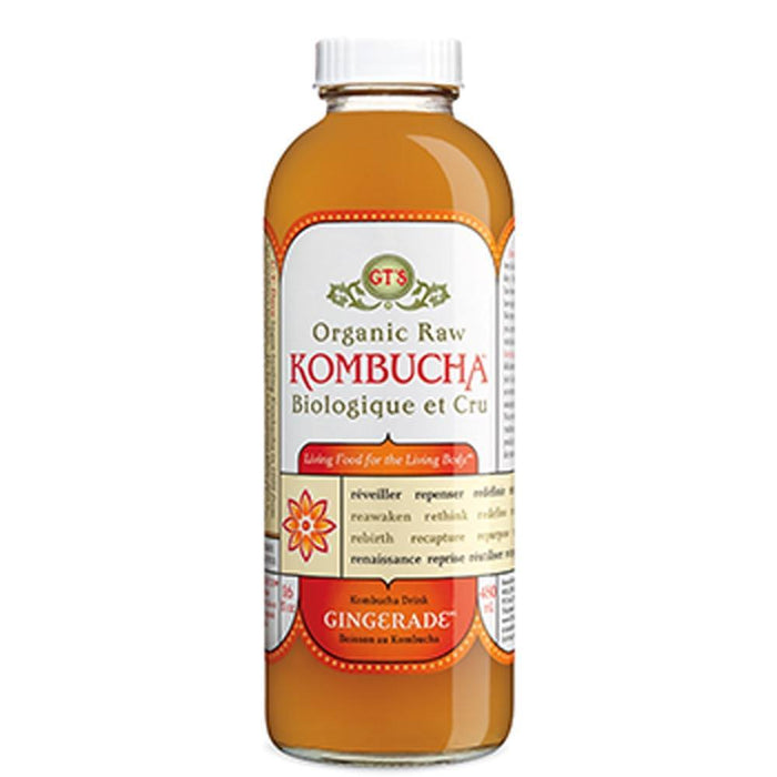 GT'S KOMBUCHA DRINK ORGANIC RAW GINGERADE 480 ML