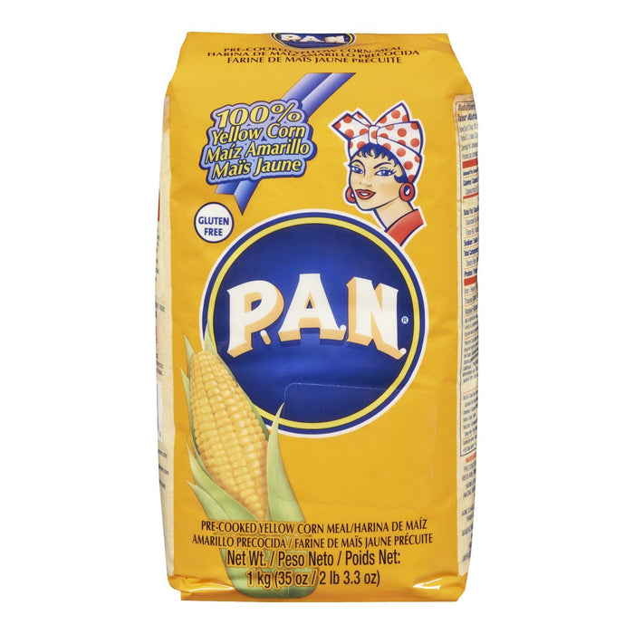 PAN MEAL CORN YELLOW GLUTEN FREE PRECOOKED 1 KG