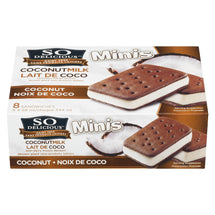 SO DELICIOUS FROZEN DESSERT MINIS SANDWICHES COCONUT MILK 8S 544 ML