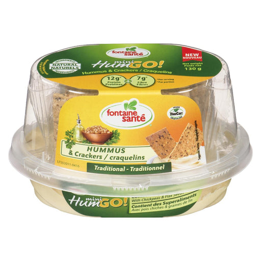 FONTAINE SANTE HUMMUS & CRACKERS MINI TRADITIONAL 130 G