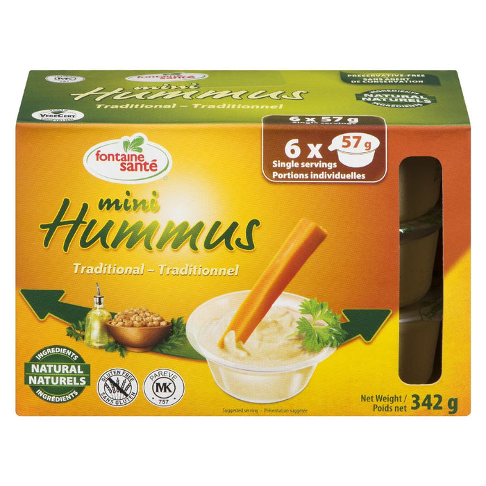 FONTAINE SANTE HUMMUS MINI TRADITIONAL 6S 342 G