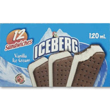 ICEBERG SANDWICH ICE CREAM VANILLA 12X120 ML