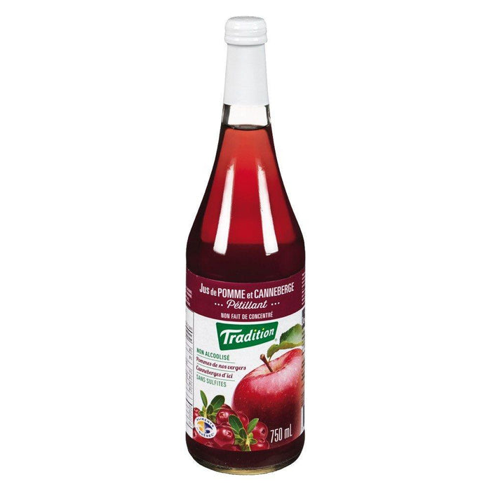 TRADITION APPLE & CRANBERRY SPARKLING JUICE 750 ML