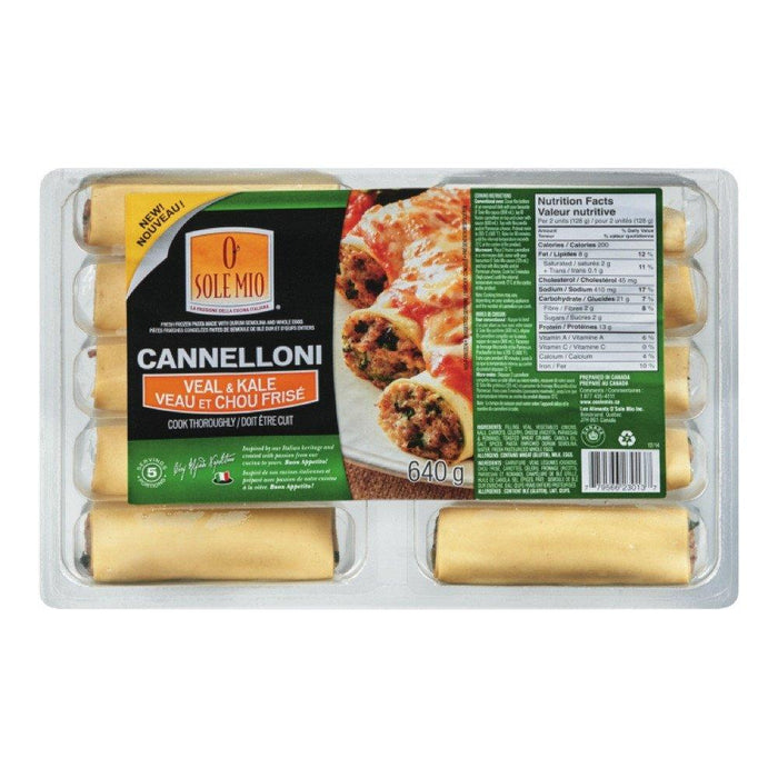 O SOLE MIO CANNELLONI VEAL KALE 640 G